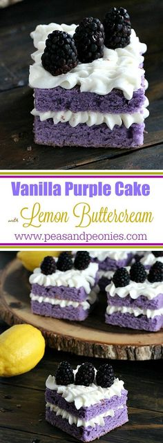 Vanilla Purple Cake with Lemon Buttercream