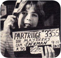 David on the Partridge set