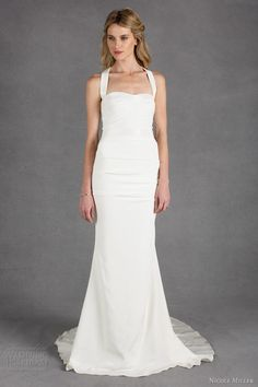 nicole miller wedding dresses spring 2014 hilary thick straps gown