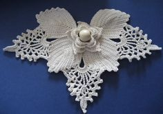 crochet irish lace  | Handmade crocheted irish lace motif. 100% cotton.