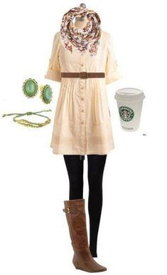 Look lindo para um dia de frio...cafezinho Starbucks não poderia faltar...