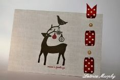 Christmas Card Upgrade - How to embellish pre-made cards. Includes video #tutorial