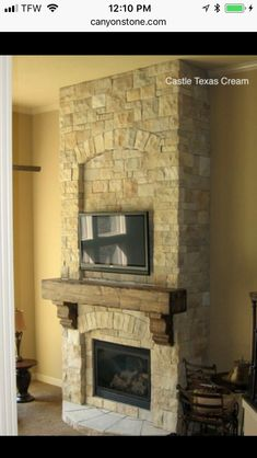 Best No Cost Stone Fireplace wall Popular Dust along with dust may go undetected about the lighter weight patina involving natural stone fireplaces compared with Custom Fireplace Mantels, Fireplace Gallery, Stone Fireplace Mantel, Fireplace Design, Fireplace Ideas, Cream Fireplace, Limestone Fireplace, Fireplace Surrounds, Stone Masonry