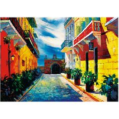 """Puerto Rico, 20""""x24"""",Old San Juan, Capilla del Cristo, Canvas print... ($20) ❤ liked on Polyvore featuring home, home decor and wall art"""
