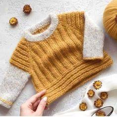 Baby Cardigan Knitting Pattern, Knitting Patterns, Knitting For Kids, Baby Knitting, Slip Stitch Knitting, Pull Bebe, Knit Baby Dress, Baby Sweaters, Crochet Yarn