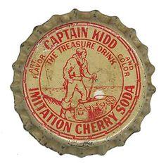 Captain Kidd Imitation Cherry Soda Bottle Cap by Neato Coolville, via Flickr