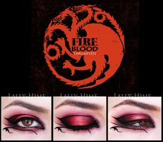 House Targaryen- Make-Up by Lally-Hime.deviantart.com on @deviantART