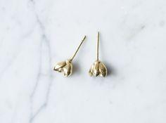 Succulent No. 1 Stud Earrings 3d printed