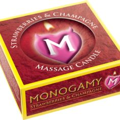 Monogamy Massage Candle Intimate Strawberries & Champagne Scented 1