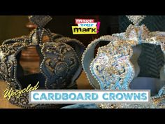 Fabulous Cardboard Crown - Upcycled & Updated - YouTube Fun Crafts For Kids, Arts And Crafts, Kids Fun, Make A Crown, Alice In Wonderland Costume, Metal Crown, Cardboard Crafts, Tiaras And Crowns, Hair Ornaments