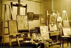 Awesome Blog cataloging artists, their studios & muses (this one: Paul Klee's studio, 1926. atelierlog). On Tumblr.