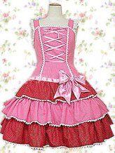 Pink Bow Bandage Ruffles Cotton Sweet Lolita Dress