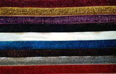 Glitter FOE by the Yard 5/8 inch  You choose by KCElasticTies, $0.99
