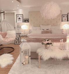 75 Young Girl Bedroom Designs - Inspiration and Ideas for Your Dream Bedroom - dougryanhomes Room Ideas Bedroom, Small Room Bedroom, Bedroom Photos, Teen Bedroom Designs, Dream Bedroom, Master Bedroom, Bed Room, Woman Bedroom, Gold Bedroom Decor