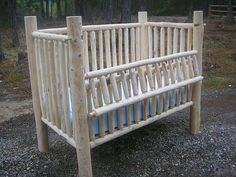 Love love love these handmade cribs! :)