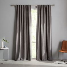Crossweave Curtain + Blackout Panel, Stone White, at West Elm - Window Treatments - Home Decor - Wall Decor Cool Curtains, White Curtains, Bedroom Curtains, Kids Curtains, West Elm Curtains, Curtains Living, Modern Curtains, Blackout Panels, Blackout Curtains