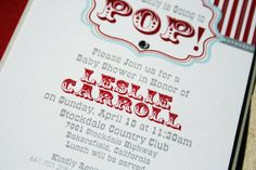 She's Going to POP Baby Shower Invite by RootedInPaper on Etsy, $4.00