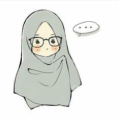 Girl Cartoon, Cartoon Art, Cute Umbrellas, Islamic Cartoon, Hijab Cartoon, Muslim Girls, Cute Characters, Cute Illustration, Islamic Art