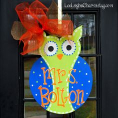 Classroom Door Hanger Owl Birthday Door by LooLeighsCharm on Etsy, $45.00
