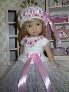 Set for Dianna Effner Little Darling Boneka 10 inches doll - blouse, skirt, hat. #Unbranded