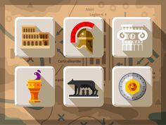 Creative Rome, Icon, Ancient, Pisa, and Helmet image ideas & inspiration on Designspiration Prop Design, Design Art, Flat Design, Logo Design, Graphic Design, Wine Images, Italy Images, Polygon Art, Game Interface
