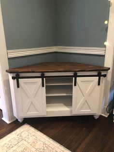 TV Console Corner Entertainment Stand Rustic TV Stand Wood Cabinet Handcrafted T. - TV Console Corner Entertainment Stand Rustic TV Stand Wood Cabinet Handcrafted TV Console Home Furn - Farmhouse Furniture, Rustic Furniture, Furniture Ideas, Antique Furniture, Corner Furniture, Outdoor Furniture, Farmhouse Table, Farmhouse Tv Stand, Rustic Farmhouse