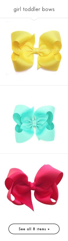 """""""girl toddler bows"""" by dancer11forever ❤ liked on Polyvore featuring kids accessories, men's fashion, men's accessories, men's neckwear, bow ties, mens bow ties and mens pink bow tie"""