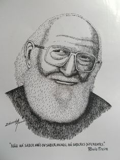 Paulo Freire, Racial Equality, Drawings, School, Human Rights, Initials, Art, Caricatures, People