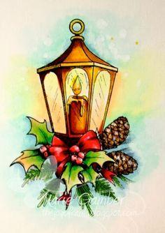Copic Sketch Markers Used Lantern Y00, Y11, Y15 YR23, YR24 Leaves: G40, G45, YG63, G91, Touch of Y11, G18 Pine Cones: E11, E15, E18, Opaque ...