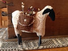 Sam Sheepherd from The Old Tattered Flag punch needle by Jennifer Bubie