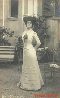 """Lina Cavalieri 1905."" Beautiful. Always on the lookout for images of her: )"