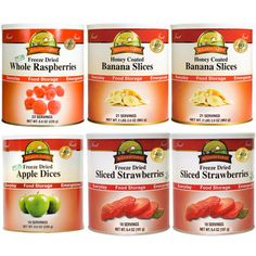 @Overstock - Freshly baked apple pie or strawberry shortcake will never be far away with this handy fruit variety pack. It contains 132 servings of various freeze dried fruits, including strawberries and apples, making it convenient for people who bake often.http://www.overstock.com/Emergency-Preparedness/Augason-Farms-Fruit-Variety-Pack-of-6/6626533/product.html?CID=214117 $90.89