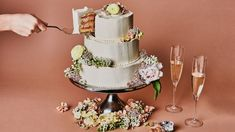 Lemon and Raspberry Wedding Cake Recipe | Bon Appetit