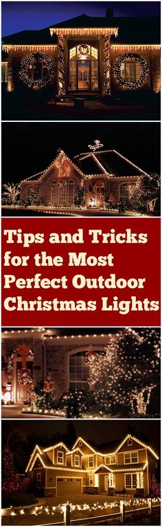 Tips and tricks for perfect Christmas Lights in your yard. Great ideas and tips for lighting up your holiday flawlessly.