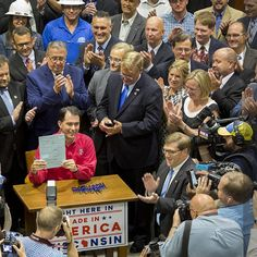 So unbelievably proud of all that we have achieved in Wisconsin over the past several years.  Common sense and reforms really do matter!  I joined Governor Scott Walker at Gateway Technical College in Sturtevant today for the bill signing that will pave the way for an amazing transformation in this state, and continue to build on our manufacturing heritage.
