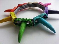 Rainbow's Revenge Bangle Available in my Etsy Shop