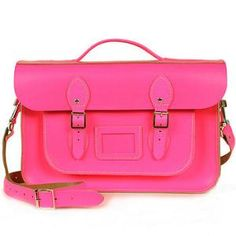 neon leather briefcase satchel by bohemia | notonthehighstreet.com