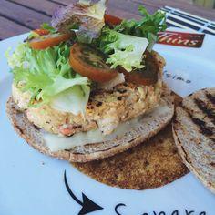 1 REFLEJO EN EL ESPEJO + #VIVESANO +: Hamburguesa de salmón y calabacín