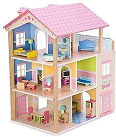 Amazon.com: Imagine My Place Dollhouse Go Round: Toys & Games