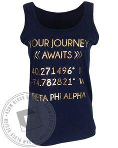 Theta Phi Alpha Your Journey Tank by Adam Block Design | Custom Greek Apparel & Sorority Clothes | www.adamblockdesign.com