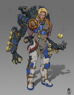 "ArtStation - Frontier Red: Major Bacall ""Pitcher"" , William Bao"