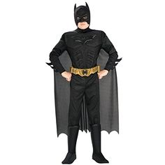 Deluxe Muscle Chest Batman Costume - Toddler @ niftywarehouse.com #NiftyWarehouse #Batman #DC #Comics #ComicBooks