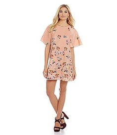 CeCe by Cynthia Steffe Floral Flutter Dress #Dillards