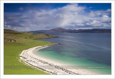Caribbean? Nope, this is a white coral beach on the Isle of Skye, Scotland.