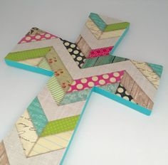 Teen Girls Cross Turquoise Cross by EthelsGranddaughter on Etsy Crosses Decor, Wood Crosses, Aqua Nursery, Nursery Art, Confirmation Gifts, Different Shapes, Gifts For Girls, Shower Gifts, Quilt Patterns