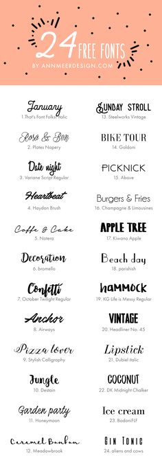 24 FREE FONTS by ann
