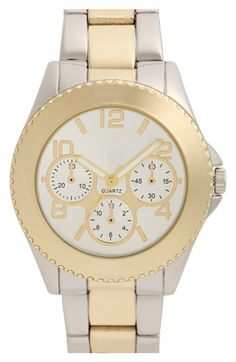 BP. Two Tone Bracelet Watch available at #Nordstrom