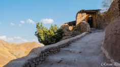 Assassins Castle Entrance! ! ! by rivanipix  sky mountains fuji wood dark ruins fujifilm xe-1 Iran Castle Stairs Alamut Assassins Riv Rivani riva
