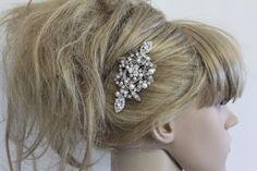 Vintage Style Bridal Hair CombCrystal Rhinestone by ChantalEveleen