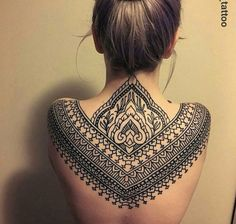 Upper back tattoo❤️ …